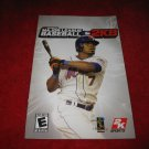 Major League Baseball 2K8 : Playstation 2 PS2 Video Game Instruction Booklet