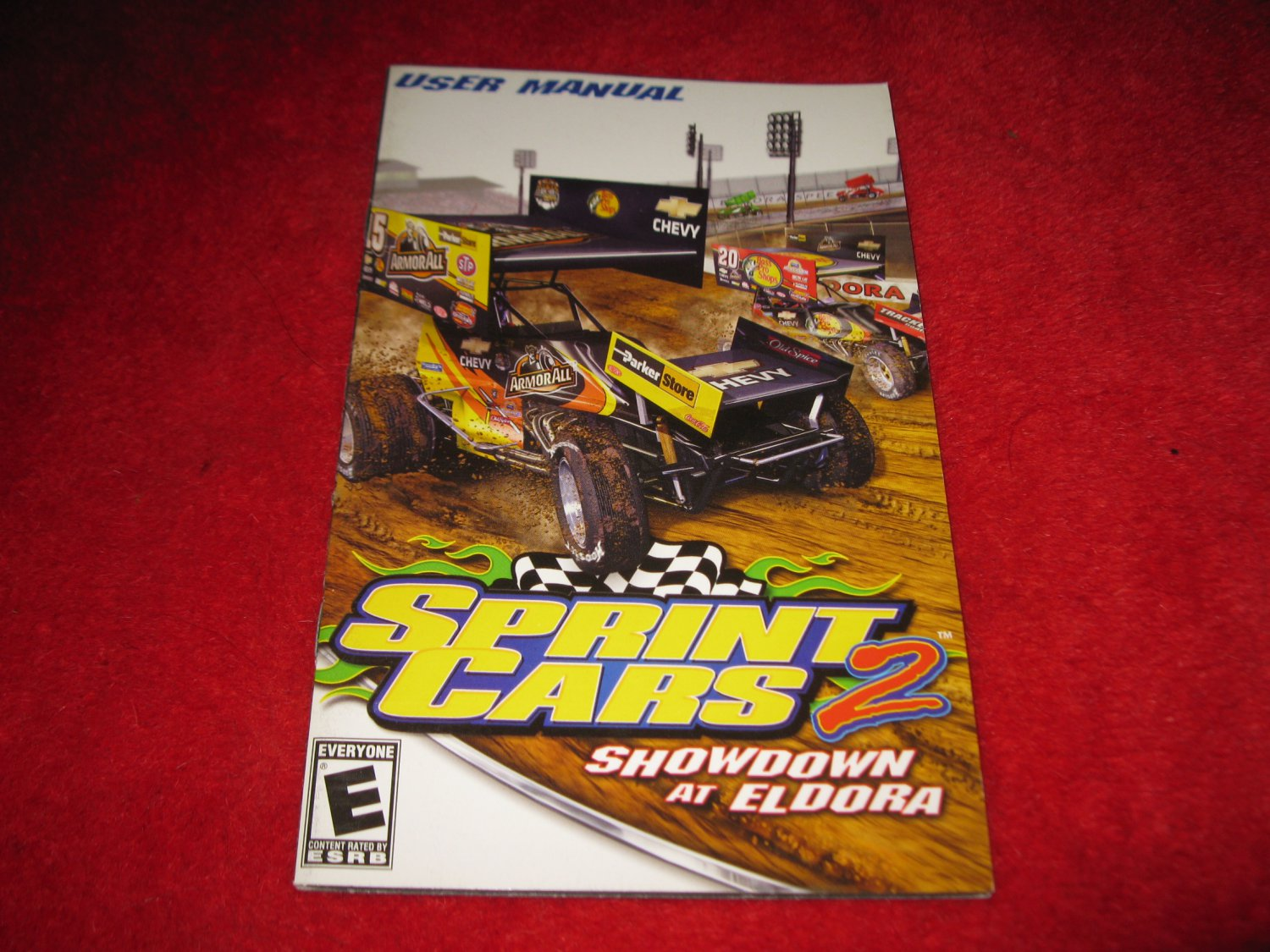 Sprint Cars 2 : Playstation 2 PS2 Video Game Instruction Booklet
