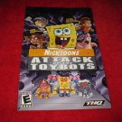Nicktoons Attack of the Toybots : Playstation 2 PS2 Video Game Instruction Booklet