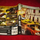 Full Auto : Xbox 360 Video Game Case Cover Art insert