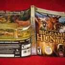 Cabela's Big Game Hunter : Xbox 360 Video Game Case Cover Art insert