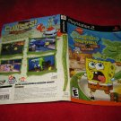 Spongebob Squarepants Revenge / Flying Dutchman : Playstation 2 PS2 Video Game Case Cover Art insert