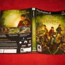 Spiderwick Chronicles : Playstation 2 PS2 Video Game Case Cover Art insert