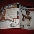 Major league Baseball 2K8 : Playstation 2 PS2 Video Game Case Cover Art insert