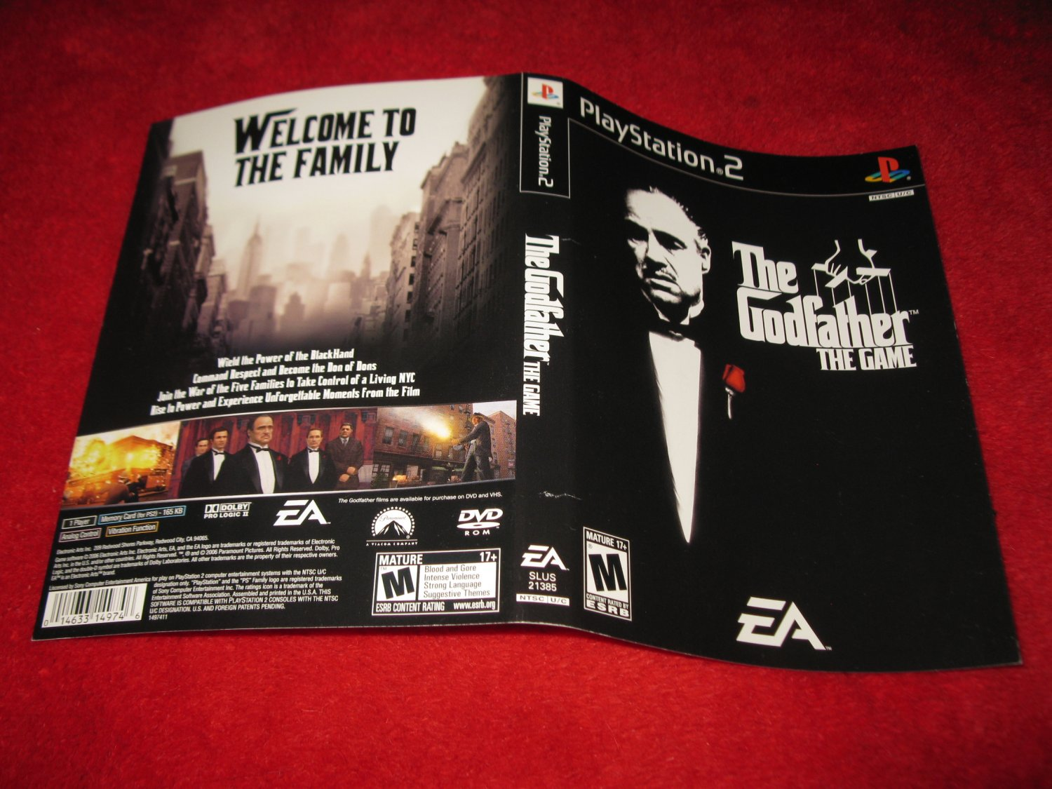 The Godfather : Playstation 2 PS2 Video Game Case Cover Art insert