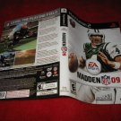 Madden 09 : Playstation 2 PS2 Video Game Case Cover Art insert
