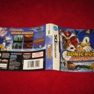 Sonic Rush Adventure : Nintendo DS Video Game Case Cover Art insert