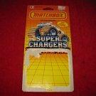 1990 Matchbox Die Cast Vehicles original Cardboard Packaging Cardback: Super Chargers Mud Racers