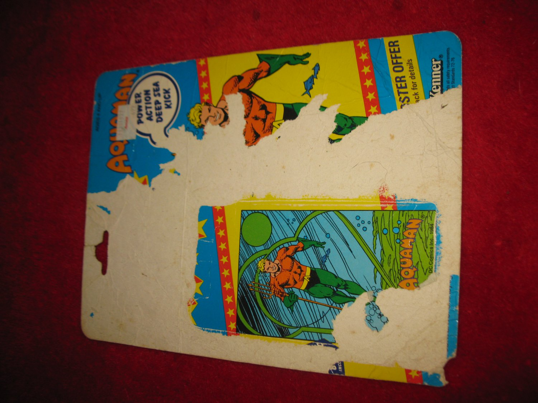 1984 Kenner/ DC Comics Super Powers Action Figure: Aquaman -Original Cardboard Packaging Cardback