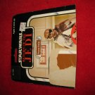 1983 Star Wars Return/ Jedi Action Figure: Prune Face- Original Cardboard Packaging Cardback