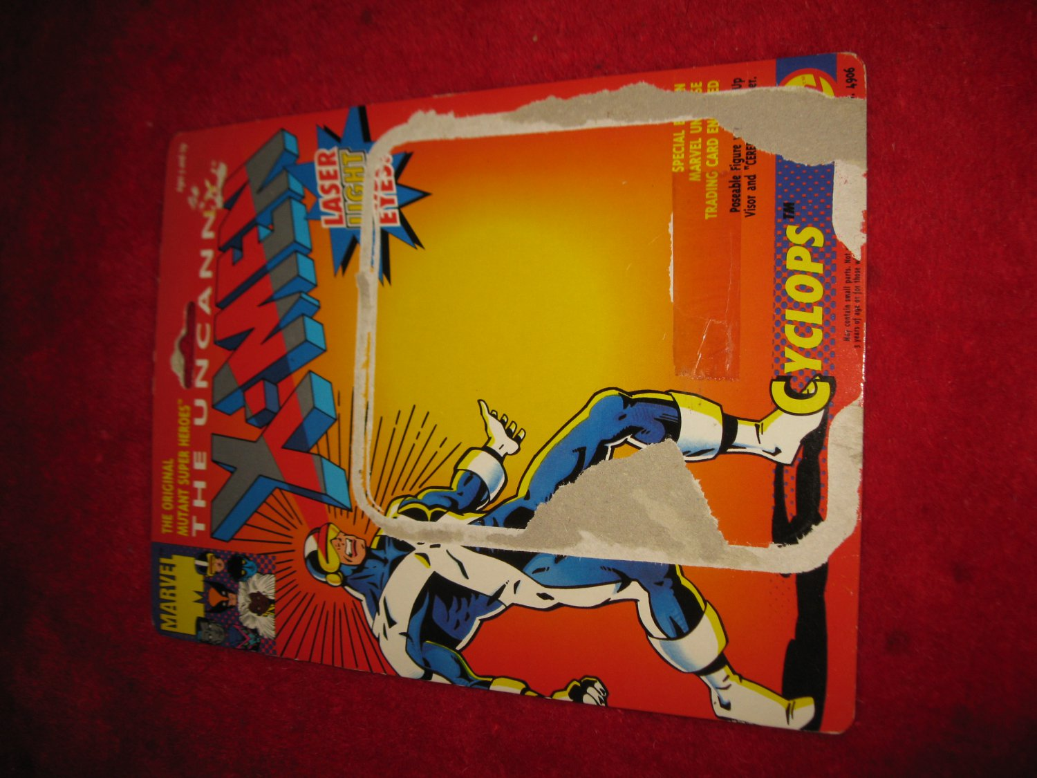 1991 Toybiz / Marvel Comics X-Men Action Figure: Cyclops - Original Cardboard Packaging Cardback