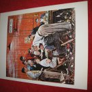 "vintage Norman Rockwell: The Holdout - 10"" x 13"" Book Plate Print"