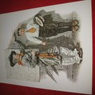 "vintage Norman Rockwell: Not Tall Enough - 10"" x 13"" Book Plate Print"