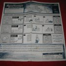 2002 Transformers Armada Action Figure: Mini-con Team Instruction Booklet-  foldout insert