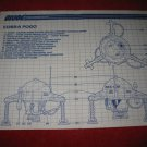 1987 G.I. Joe ARAH Action Figure- Cobra Pogo : Instruction Booklet-  foldout insert