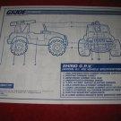 1993 G.I. Joe ARAH (Hall of Fame) Action Figure- Rhino G.P.V.: Instruction Booklet-  foldout insert
