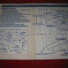1987 G.I. Joe ARAH Action Figure- Cobra Wolf (#2) : Instruction Booklet-  foldout insert