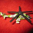 1992 Micro Machines Mini Diecast vehicle: Helicopter MI-24 Hind Gunship