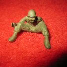 "vintage 1"" military action figure: Dark Green Sitting US WW2 Army Man - Rare"