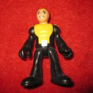 "2.5"" action figure: unknown - black w/ yellow clothes"