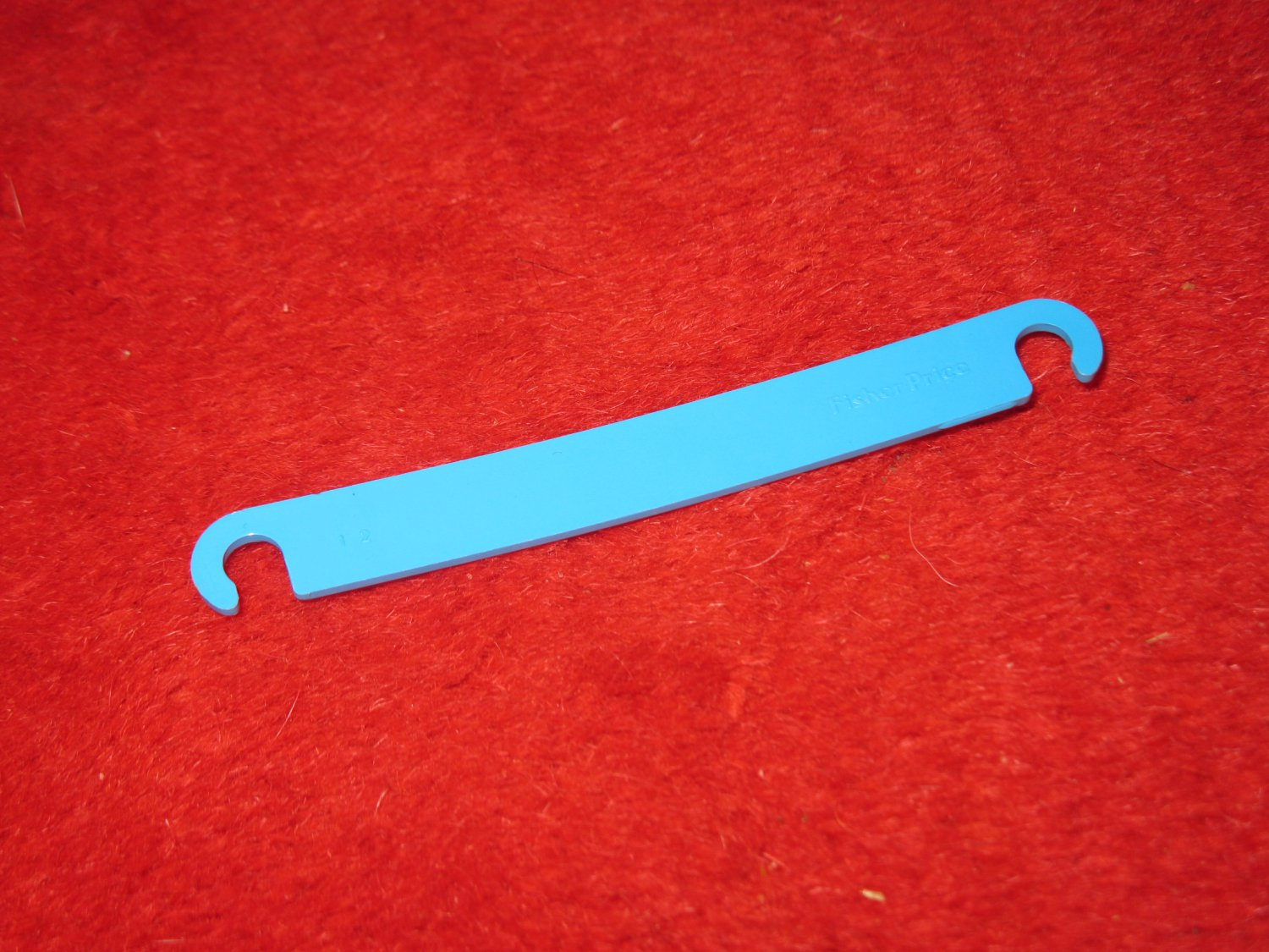 "Fisher Price: Construx Action Building System Part- 4"" Blue Flat Link"