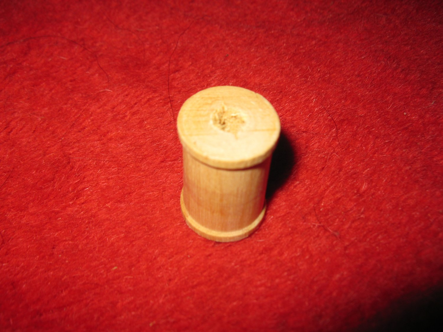 old wood Spool w/ Thread: no label,