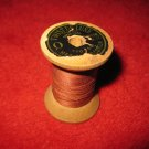 American Thread Company wood Spool w/ Thread: Twist De Luxe, 0 , 3 Cord Mercerized Cotton