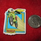 Vintage 1982 Cartoon Refrigerator Magnet: DC Comics Robin The Teen Wonder riding Robin-Cycle