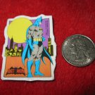 Vintage 1982 Cartoon Refrigerator Magnet: DC Comics Batman w/ Yellow Gotham Moon
