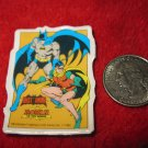 Vintage 1982 Cartoon Refrigerator Magnet: DC Comics Batman & Robin The Teen Wonder in Action