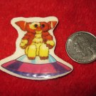Vintage 1980's Cartoon Refrigerator Magnet: The Gremlins Movie- Gizmo sitting on Spaceship