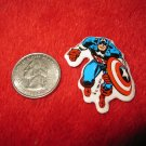 1984 Marvel Comics Refrigerator Magnet: Captain America in action