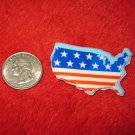 1970's American USA Refrigerator Magnet: United States w/ flag background