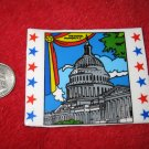 1970's American USA Refrigerator Magnet: The Capitol