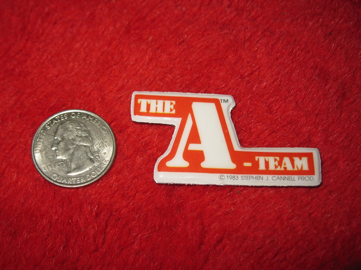 1983 The A-Team TV Show Refrigerator Magnet: Logo