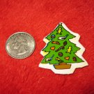 1970's Christmas Themed Refrigerator Magnet: Decorated Tree