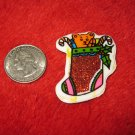 1970's Christmas Themed Refrigerator Magnet: Stocking w/ Bear