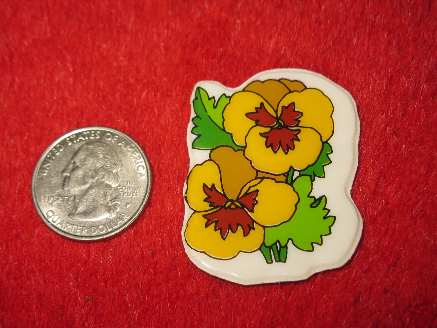 1980's Cartoon Flowers Series Refrigerator Magnet: #7