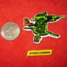 1982 G.I. Joe Cartoon Series Refrigerator Magnet: Attack Cannon w/ Label