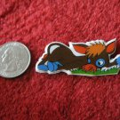 1980's Cartoon Animals Series Refrigerator Magnet: Brown Donkey