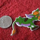 1980's Cartoon Animals Series Refrigerator Magnet: Green Donkey