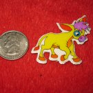 1980's Cartoon Animals Series Refrigerator Magnet: Yellow Donkey