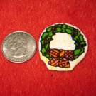 1970's Christmas Themed Refrigerator Magnet: Wreath