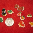 1980's Cartoon Animals Series Refrigerator Magnet: lot of miniatures