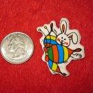 1980's Cartoon Rainbow Series Refrigerator Magnet: Rabbit & Butterfly