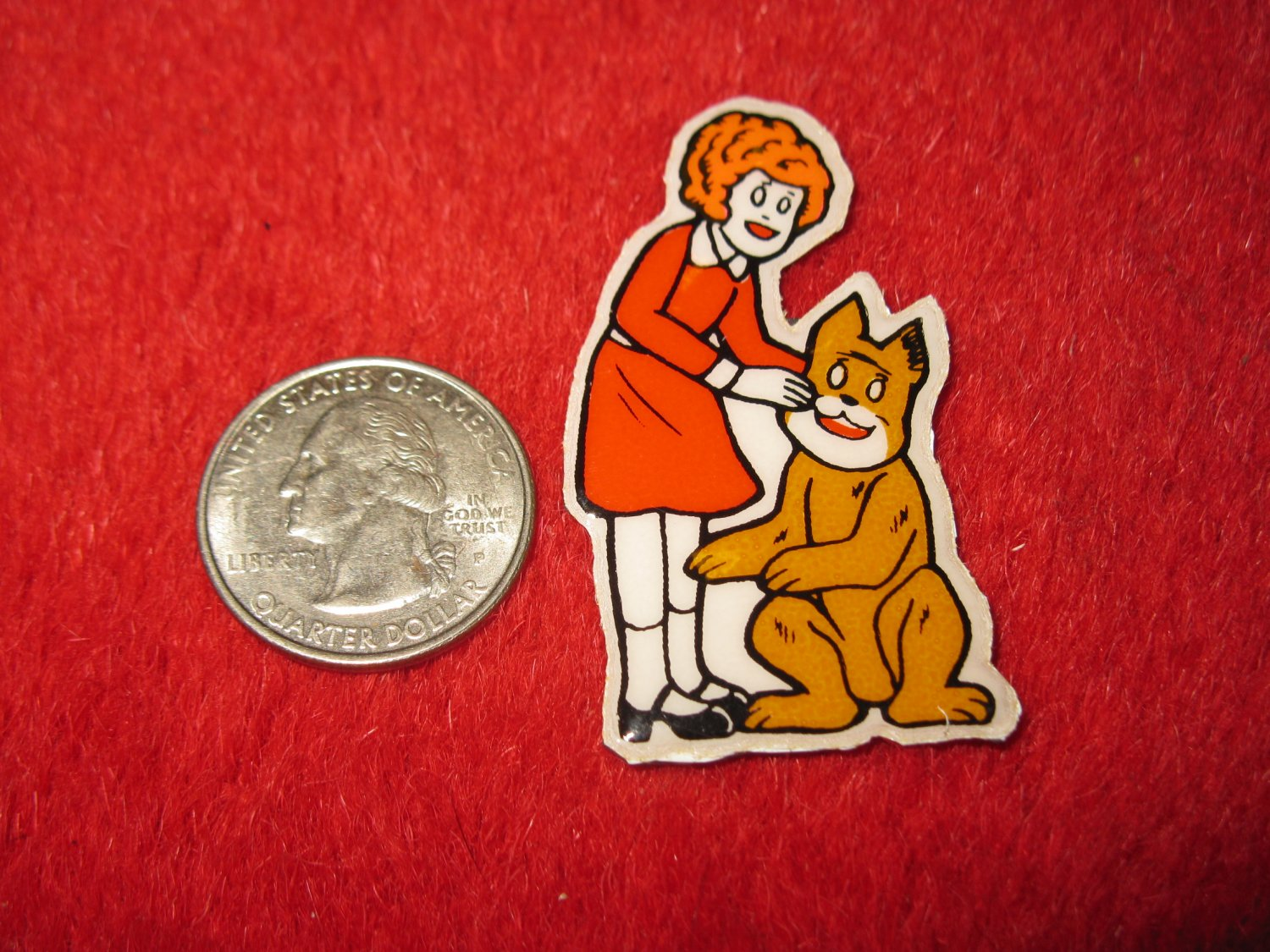 1980's Cartoon Series Refrigerator Magnet: Annie #7