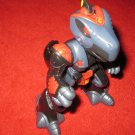 2002 Playskool Transformers Go-Bots Action Figure: Mission Earth Black Reptron