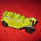 1960's ? Tootsietoy mini Die Cast Car: Roadster, green paint