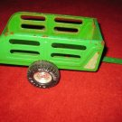 "Vintage Green NYLINT Farms Metal Muscle Pressed Steel: 6"" Stake Trailer"