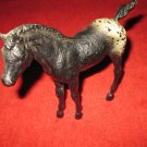 """Breyer Horse: 6"""" Tall Black w/ white painted speckled rear. short tailed colt"""